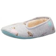Joules X DREAMA Zapatillas de estar por casa para mujer French Navy Ria Ditsy, color Gris, talla Small
