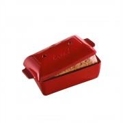 Керамична правоъгълна форма за печене на хляб EMILE HENRY BREAD LOAF BAKER - 28 х 13 х h12 см - цвят червен