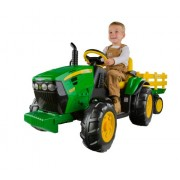 John Deere Ride-On Tractor with Wagon Ground Force 12-volt