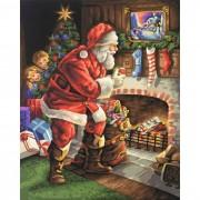Schipper Картина по номерам Санта Клаус у камина 40х50 см
