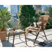 ラタン調リクライニングシリーズ リクライニングシングルチェア