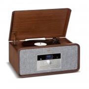 Auna Bella Ann, стерео система, грамофон, радио, DAB + / FM, USB, bluetooth, кафяв (RM1_Bella Ann WD)