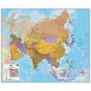 Magneetbord wandkaart Azie - Azië Politiek - Asia Political, 120 x 100 cm | Maps International