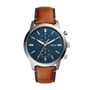 Часовник FOSSIL - Townsman FS5279 Light Brown/Silver/Steel