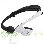 Auriculares inalambricos estereo de Bluetooth para deportes - negro + blanco