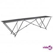 vidaXL Sklopivi stol za lijepljenje od MDF-a i aluminija 300 x 60 x 78 cm