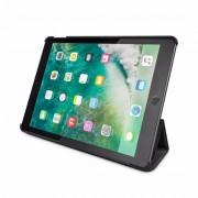 BeHello Smart Stand Case - кожен кейс и поставка за iPad 5 (2017) (черен)