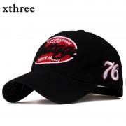 Xthree unisex spring casual baseball cap fashion snapback hats casquette bone cotton hat for men women apparel wholsale