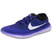 Nike Men's Free Rn Motion Flyknit Blue Running Shoes - 9 UK/India (44 EU)(10 US)(834584-400)