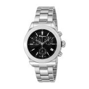【59%OFF】ラウンドウォッチ クロノグラフ デイト ステンレスベルト メンズ フェイス:ブラック ベルト:シルバー ファッション > 腕時計~~メンズ 腕時計