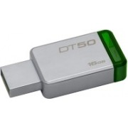 Kingston DataTraveler 50 16 GB Pen Drive(Silver, Green)