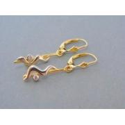 Zlaté dámske náušnice vzorované v dvojfarebnom zlate zirkón DA317V