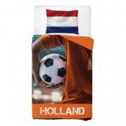 Snoozing Holland dekbedovertrek - Katoen - 1-persoons (140x200/220 cm + 1 sloop) - Oranje
