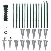 vidaXL Set Gard de sârmă cu stâlpi cu pivot şi accesorii montare 1,25 x 25 m