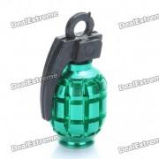 Enfriar en forma de granada Bike Bicycle Tyre valvula del neumatico Cap Dust Cover - Verde (2 Paquete de piezas)