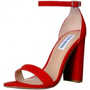 Steve Madden Women's Carrson Red Suede Fashion Sandals - 4 UK/India (36.5 EU)(6 US)