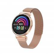 LEMONDA MC11 1.04-inch IPS Round Screen Smart Bracelet Crystal Sport Watch Female Physiological Cycle Monitor - Rose Gold