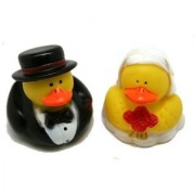 WEDDING Rubber Duckies/DUCKS BRIDE & GROOM/Marriage (2-Pack of 12)