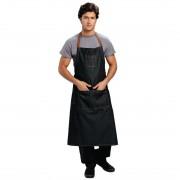 Chef Works Urban Memphis lang schort zwart