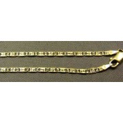 Zlatá retiazka vzor žiletka žlté zlato VR41514