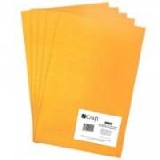 dpCraft Filc polyesterový - tmavo žltý A4, (DPFC-005)