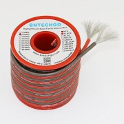BNTECHGO 14 Gauge Translucent Silicone Wire 40ft [20ft:Black And Red] High Temperature Resistant Soft and Flexible 14 AWG Silicone Wire 400 Strands of Tined Copper Wire