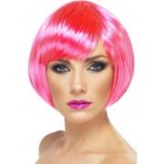 Peruca Petrecere Babe bob roz neon