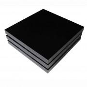 vidaXL Salontafel met 3 lagen hoogglans zwart