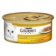 Megapack Gourmet Gold Bocaditos en Salsa 48 x 85 g - Pack Mixto (Salmón y pollo, Ternera y verdura)