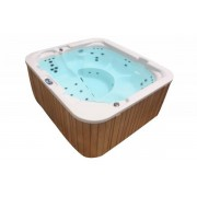 Whirlpool Outdoor Whirlpool Hot Tub Spa MADE IN GERMANY weiss + hellbraun mit 39 Massag...