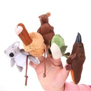 Foto4easy Nursery Rhyme Toys Story Telling Finger Puppets Australia Animals - Koala / Kangaroo/ Platypus/ Emu/ Crocodile (5 Pieces)
