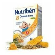 Papa 8 cereais e mel com efeito bifidus 300g - Nutriben