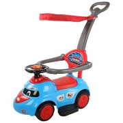 Baybee Tikki-Rikki Push Car with Canopy and Parent Control, Music Sound (Blue)