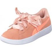 Puma Puma Smash V2 Ribbon Jr Peach Bud-bright Peach, Skor, Sneakers & Sportskor, Låga sneakers, Rosa, Barn, 37