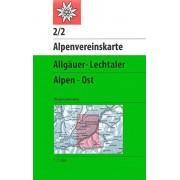 Collectif DAV Alpenvereinskarte 02/2 Allguer Lechtaler Alpen Ost 1 : 25 000: Topographische Karte