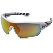 Under Armour Rival Shield anteojos de sol (42 mm), color blanco y gris