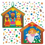 Baker Ross Nativity Mosaic Decoration Kits (Pack of 4)