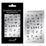 KONAD Square nail art sjablonen 03 ' LOVE '
