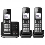 Panasonic KX-TGD323ALB Triple Cordless Phone System with Answering Machine