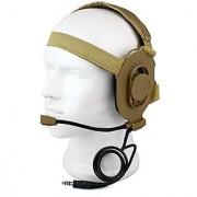 Winkeyes HD03 Z Tactical Bowman Elite II Headset Airsoft Mic Radio Boom for Kenwood Baofeng Puxing Woxun Kenwood Two Way