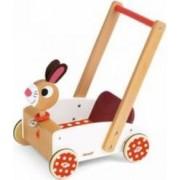 Jucarie bebelusi Janod Crazy Rabbit Cart