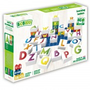 Set de constructie BioBuddi Lumea literelor, 27 cuburi