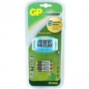 Фенер Челник, LED осветление, 3 батерии ААА, 35 лумена, син цвят, GP-F-LOE213BAU
