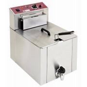 """Diamond Friteuse de Comptoir Electrique """"S-POWER"""" 12 Litres Avec robinet zone froide 7,5kW 400V 325x430x(H)510mm"""