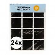 Krijtbord label stickers 24 stuks