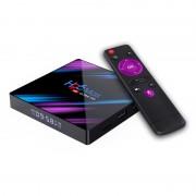 TV Box H96 MAX 3318 Smart Media Player 4K 4GB RAM 64GB ROM Rockchip RK3318 QuadCore Android 10.0 USB 3.0 Slot memorie