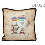 Boldog 20. szülinapot Macis DP022 - Díszpárna