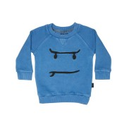 Munster Kids Baby Boys Maple Face Fleece Crew Washed Blue