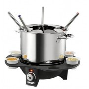 Set fondue electric Unold, 6 borcane, 1000W (Inox)