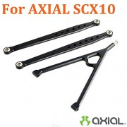 Generic Black : For AXIAL SCX10 OP Parts Aluminum Upper Link 122mm + Y Links Set Metal Replace AX80043 Fit 1/10 RTR